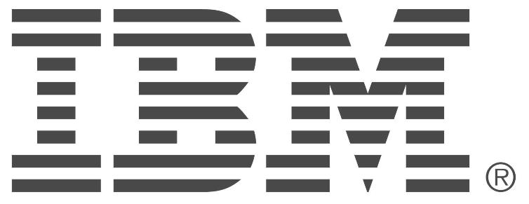Grayscale IBM Logo