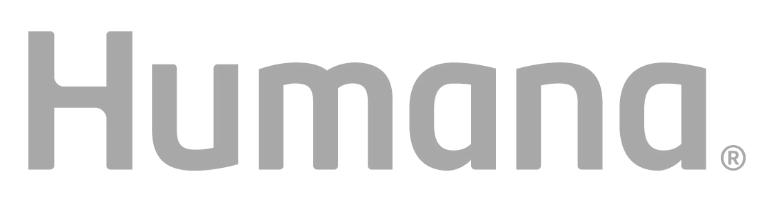 A gray scale Humana Logo